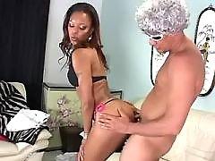 Bombshell black chubby lady takes up cock