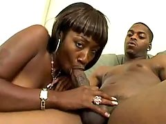 Attractive ebony mom gets banged heavily